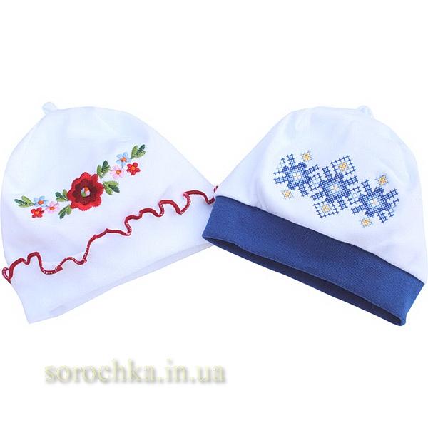 Купить шапочки на резинке вышитые