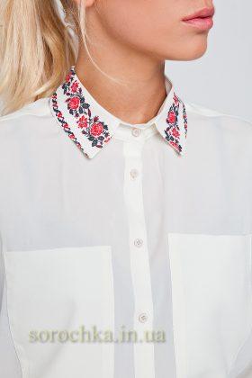 Купить классическую белую блузу с длинным рукавом