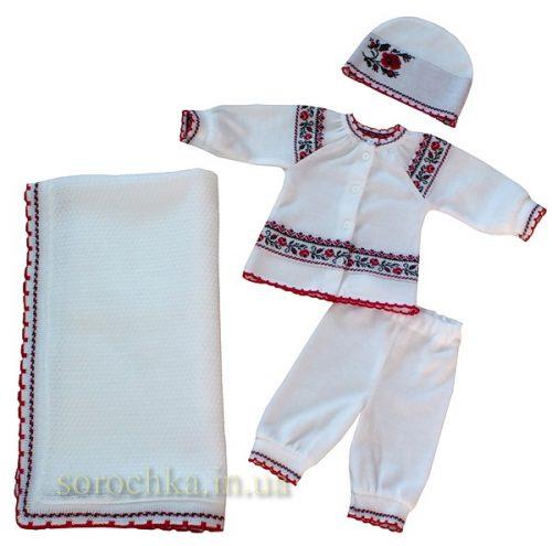 Комплект для новорожденных вязаный